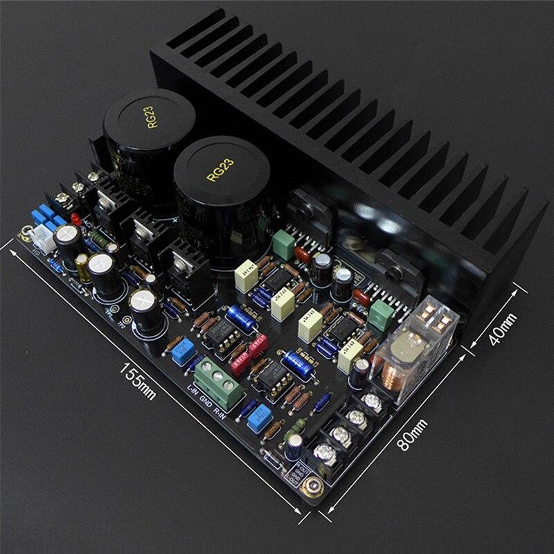 DC servo circuit LM317 LM337 C1237 LM3886 JRC5534DD OP07 Max Output Power Amplifier Board 68W+68W HIFI AUDIO Amplifier