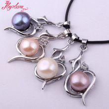10mm Natural Round Freshwater Pearl Gem Stone Beads,White Tibetan Silver Women Pendant 1 Pc 18x30mm,Wholesale Free Shipping(China)