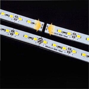 Image 4 - Ha condotto la luce di Striscia TXG 100pcs * 100 Centimetri Super Luminoso SMD 5630 5730 Disco Rigido Bar luce DC12V 72 led Per Cabinet
