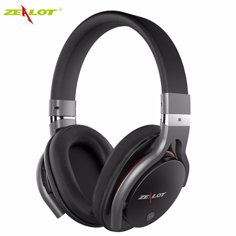 New ZEALOT B5 Wireless Bluetooth 4.0 Headphone Stereo Surround Headset With Mic HD Support TF Card Universal Music Headband hlton portable 2 in 1 universal wireless bluetooth stereo headphone with mic support tf card headset for smartphone computer