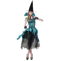 Women Halloween Costumes Adult Fantasia Dress Beauty Witch Queen Maleficent Dresses Hat Adult Party Cosplay Fancy Dress