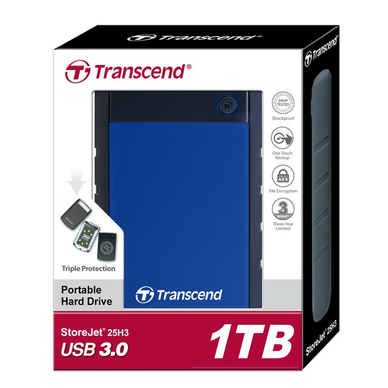Transcend 25H3 USB 3.0 External Hard Drive 1TB HDD Hard Disk Drive 1T 1000GB External Storage Portable Storage For PC Laptop free shipping on sale 2 5 usb3 0 1tb hdd external hard drive 1000gb portable storage disk wholesale and retail prices