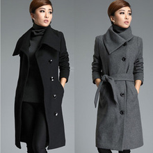 2016 autumn and winter thickening woolen overcoat plus size mm ultra long outerwear
