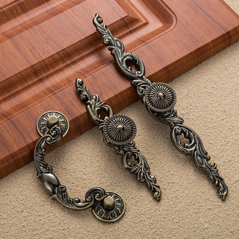 Image 2 - High quality Vintage Decorative Bronze Drawer Cabinet Desk Door Pull Handle Furniture Hardware,Free shipping-in Furniture Accessories from Furniture