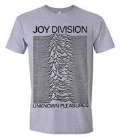 Joy Division 'Unknown Pleasures (Grey)' T Shirt NEW & OFFICIAL!