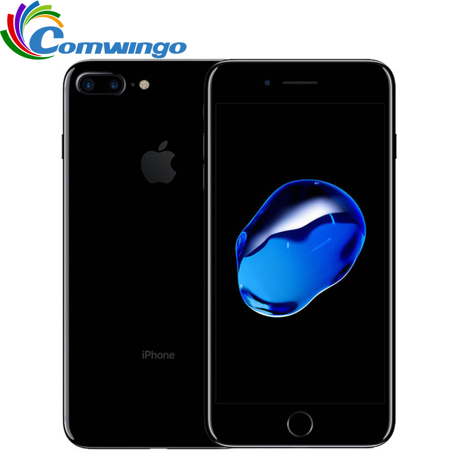Apple original iphone 7 plus 3 gb ram 32/128 gb/256 gb rom quad-core ios lte 12.0mp câmera iphone7 mais telefone de impressão digital usado