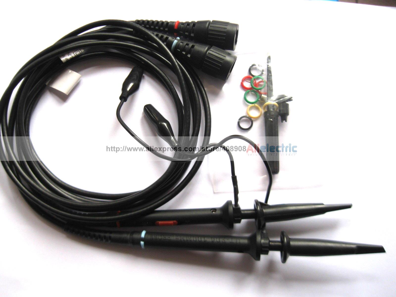 ФОТО 2 Pcs Black 100MHz Scope Clip Probes for Oscilloscope