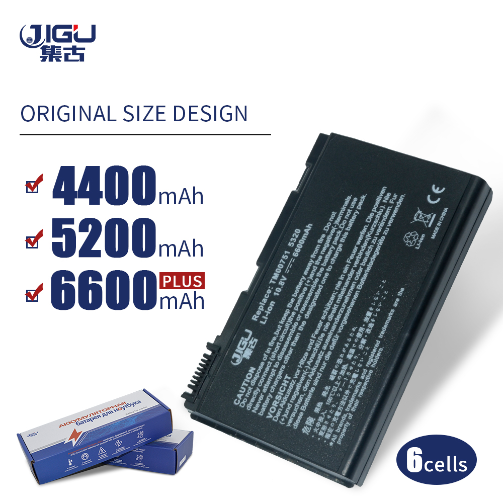 JIGU 6Cell Laptop Battery For Acer Extensa 5210 5220 5230 5420 5420G 5610 5620 5620Z 5630 <font><b>5630G</b></font> image