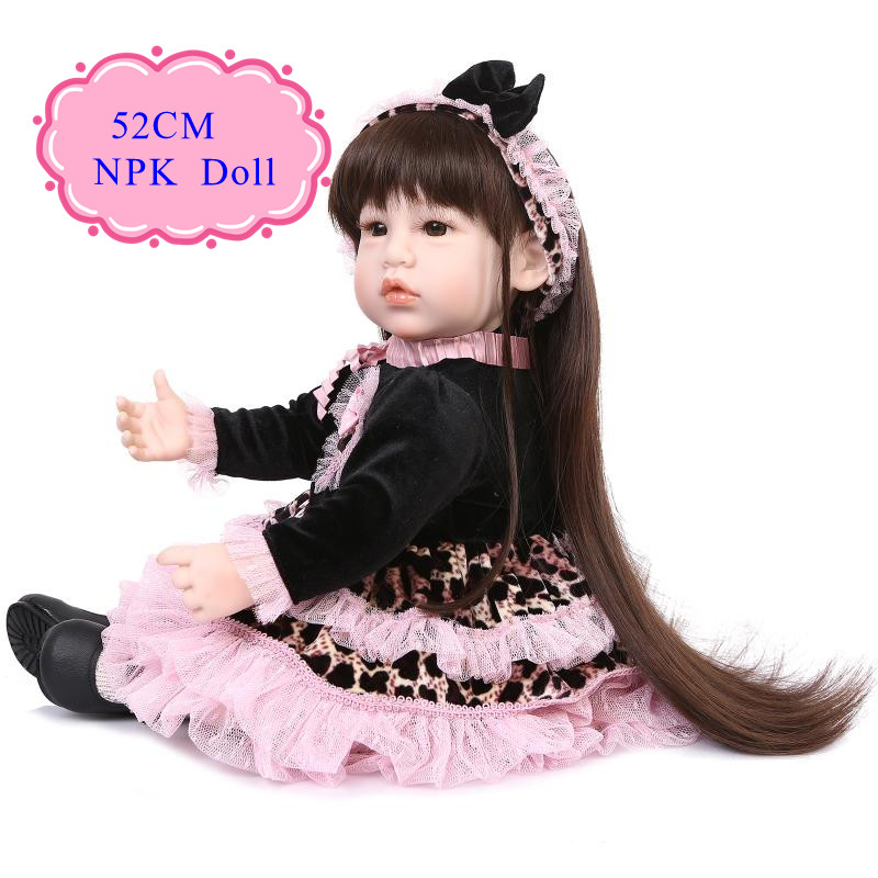 Best Price 52cm 22'' Reborn Baby Doll With Special Design 20''Baby Doll Clothes Super Fashion Toddler Dolls Best Christmas Gift