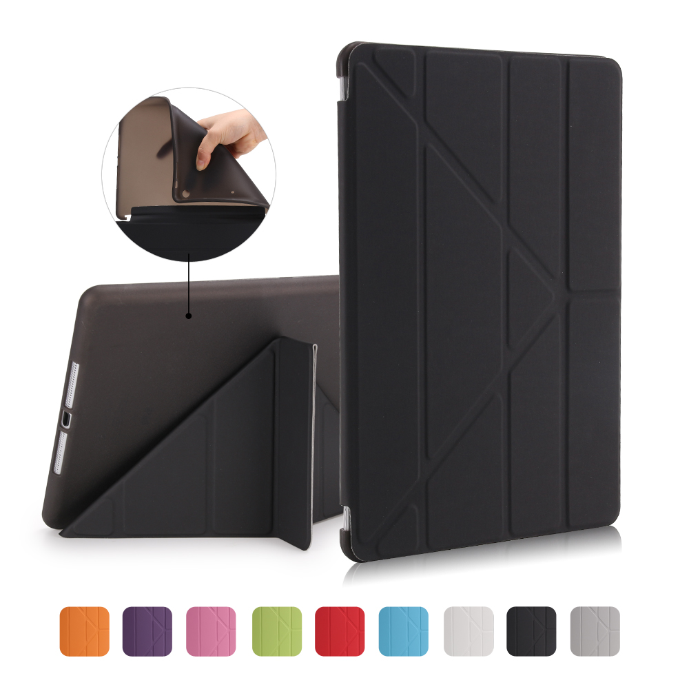 Case For Apple Ipad 9.7 Inch 2017/Release 6Th Smart Sleep Wake Up Advanced Shell PU Leather Cloth TPU Soft Rear Cover
