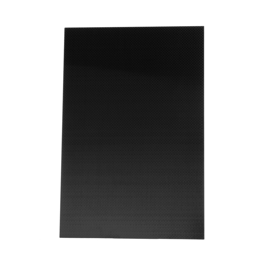 YKS Toys Tool Accessories 3K Plain Weave Real Carbon Fiber Plate Panel Sheet 200X300X2mm Rigid Weave Surface Plate Board 1sheet matte surface 3k 100% carbon fiber plate sheet 2mm thickness