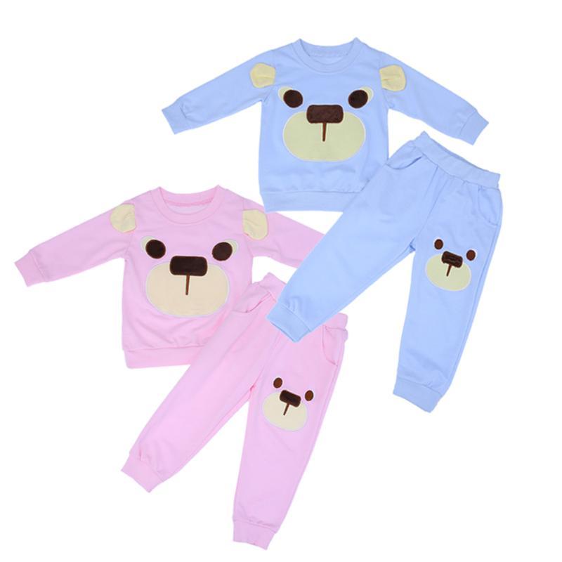 2pcs Autumn Toddler Baby Kids Clothes Set Sweat Cottin Shirt Tops + Long Pants Clothes Outfits Warm Baby Clothing Set
