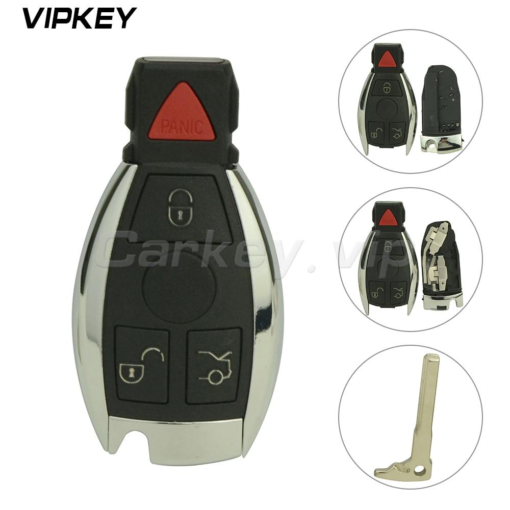 Remotekey IYZDC07 IYZDC10 IYZDC11 Smart car key fob shell case 3 button with panic For Mercedes benz C350 S550 R350