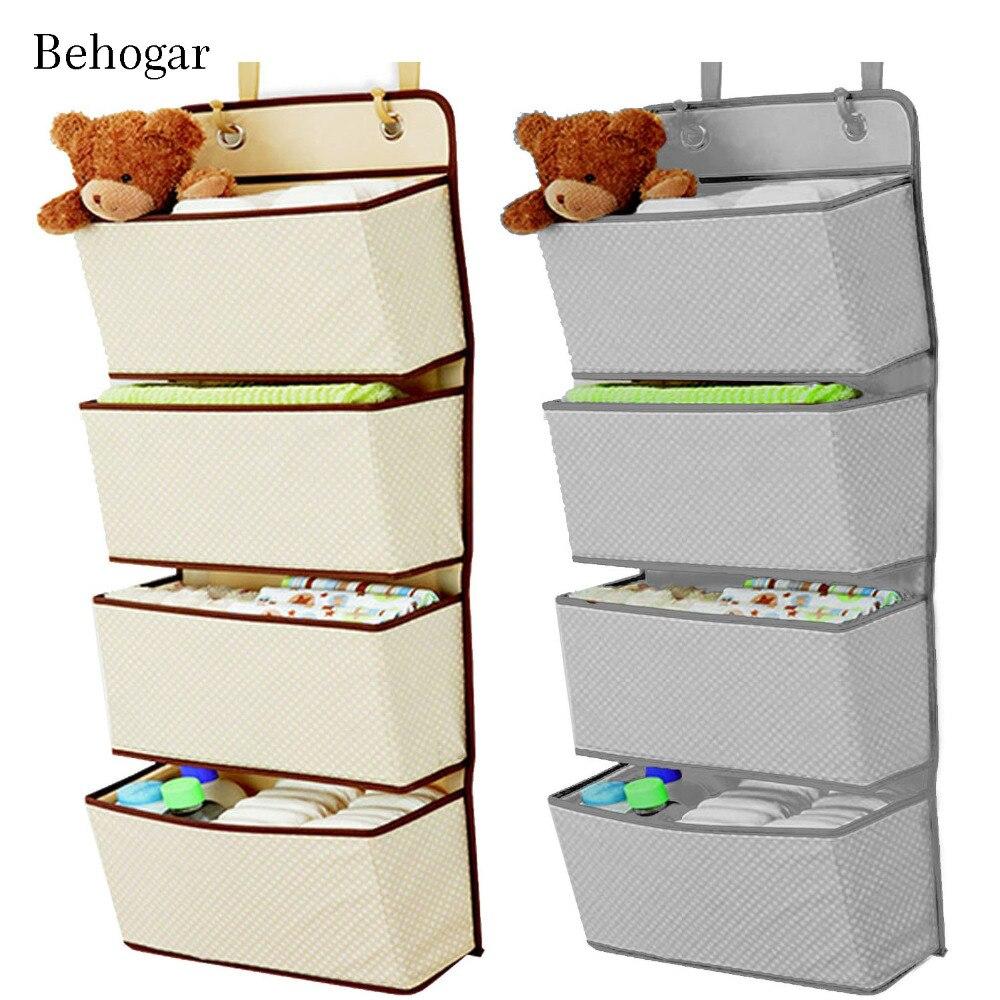 Behogar Simple Houseware 4 Pocket Hanging Wall Closet