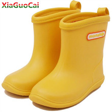 2018 New fashion Kids Rain Boots Girls Boys children shoes Rainboots Loverly Waterproof Overshoes Water Shoes Rubber Shoes A1 27