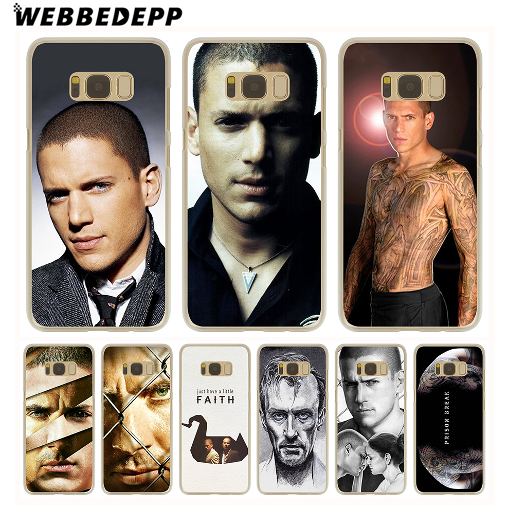 WEBBEDEPP michael scofield Prison Hard Transparent Cover Case for Galaxy S6 S7 Edge S9 S8 Plus S5 S4 S3 & Mini ...
