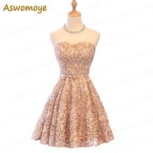 ALIMIDA Short Evening Dress 2017 Elegant Banquet Off the Shoulder Prom