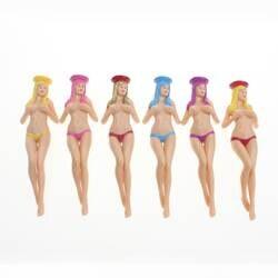 CRESTGOlf стиль 6 шт./упак. размер 75 мм (2,95 дюймов) сексуальное бикини леди Гольф Тройники подарок новейший дизайн Пластиковые Гольф Тройники