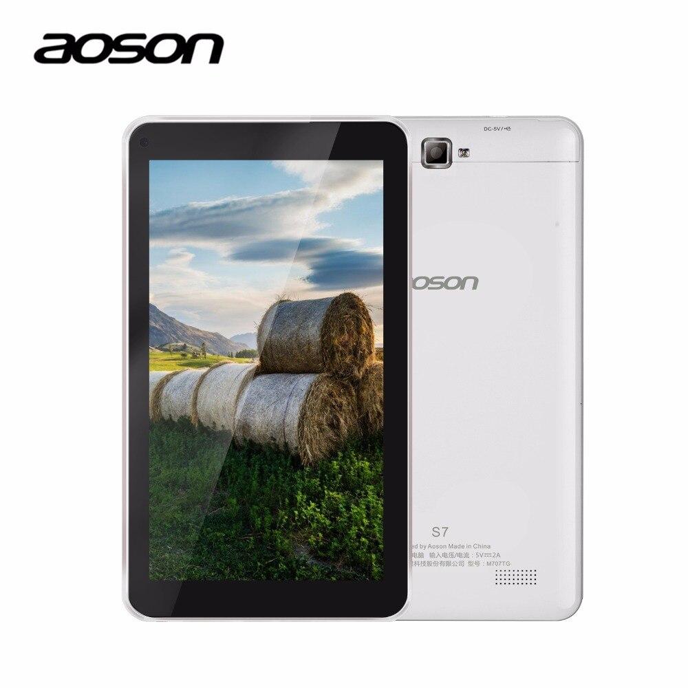 3G!!! S7 7 pulgadas 3G Llamada de Teléfono de Aoson Tablet Pc Quad Core Android