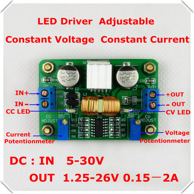 Rd Led Driver 12v 5v 2a Dc Dc Constant Voltage Constant