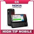 ENVÍO GRATIS ORIGINAL de la marca Nokia C6 Desbloqueado 5MP Pantalla Táctil Teléfono Celular menú Ruso Polaco Hebreo Reformado
