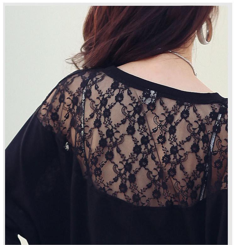 HTB1DF28NXXXXXcMXpXXq6xXFXXX0 - Casual Lace Blouse Batwing Sleeve Shirt Women Cotton Clothing