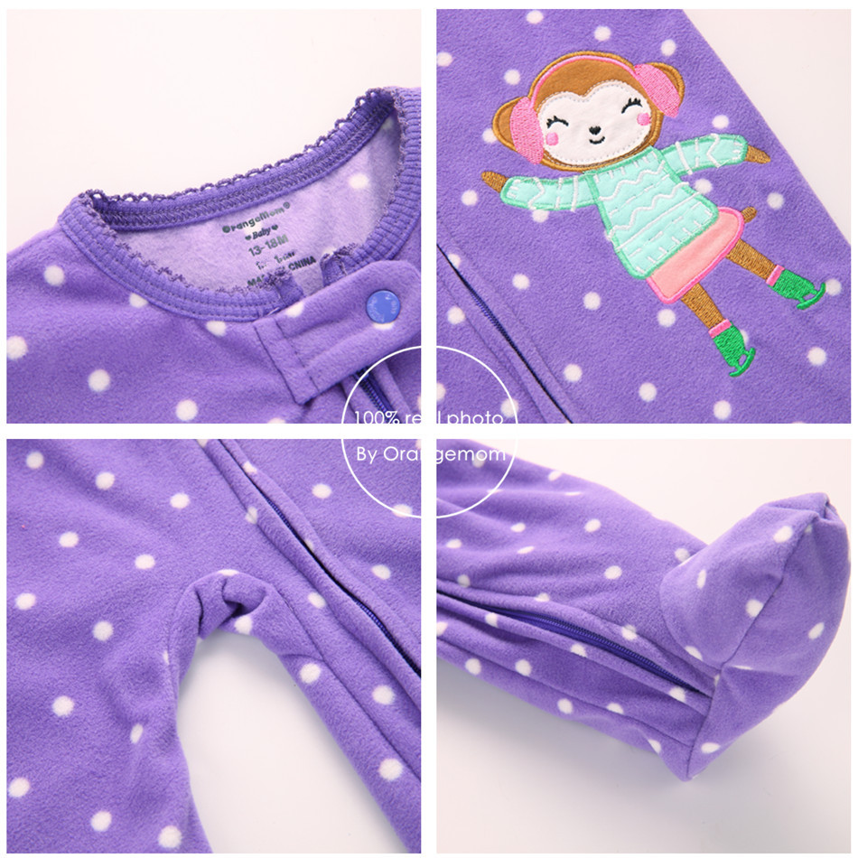 Orangemom Christmas Spring Autumn Baby Clothing Newborn Soft Fleece Rompers  m Infant Jumpsuit Baby Cartoon