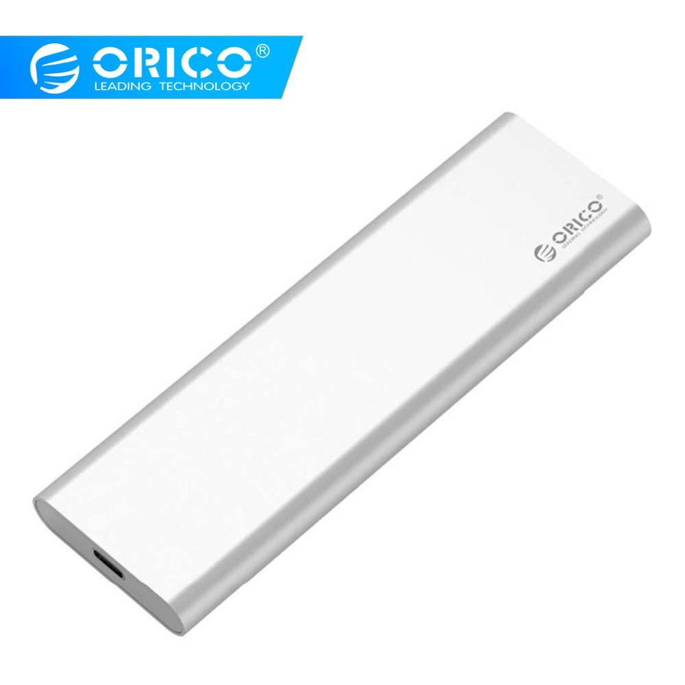 ORICO Aluminum Type C To C USB3.1 GEN2 10Gbps Dual Bay MSATA SSD Enclosure Support RAID 0 Max 4TB For Mac