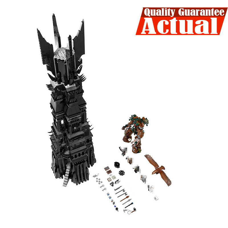 2430Pcs Lepin 16010 Lord Of The Rings The Tower Of Orthanc Model Building Kits Blocks Bricks Educational Toys Boys Gift 10237 hot sale the hobbit lord of the rings mordor orc uruk hai aragorn rohan mirkwood elf building blocks bricks children gift toys