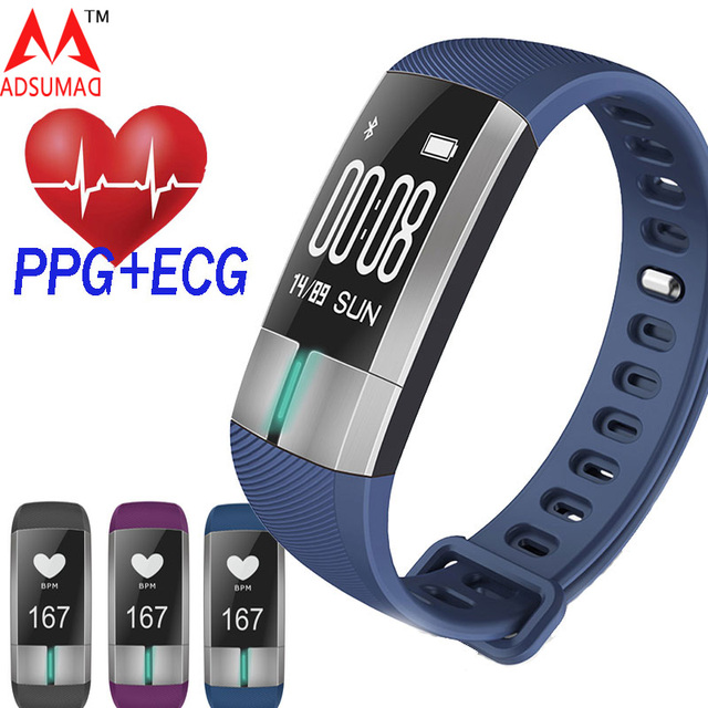 Smart Wristband G20 PPG+ECG Oled touch screen Bracelet Fitness Blood Pressure Heart Rate monitor band wear Pedometer sports