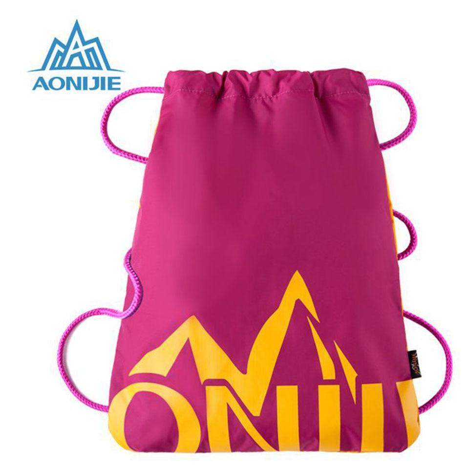 AONIJIE Man Women Climbing Backpack 3D Travel Softback Drawstring Bag Backpacks Fitness Gym Bag Sports Bags