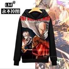 2016 Cool Design One Punch Man Saitama Genocide Anime Men s Pullover Sweatshirt Hoodies Hoody Cloak