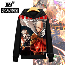2016 Cool Design One Punch Man Saitama Genocide Anime Men's Pullover Sweatshirt Hoodies Hoody Cloak Hooded Jacket Outfit Coat