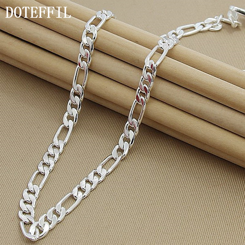 8mm Wholesale 925 Sterling Silver Jewelry Necklace Man Woman Senior Luxury Jewelry Statement Necklace Free Shipping8mm Wholesale 925 Sterling Silver Jewelry Necklace Man Woman Senior Luxury Jewelry Statement Necklace Free Shipping