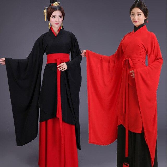 6 ШТ. Китайский Традиционный Костюм Для Женщин Древняя Hanfu Одежда Косплей Леди Элегантный Тан Dress Костюм Для Сцены 17