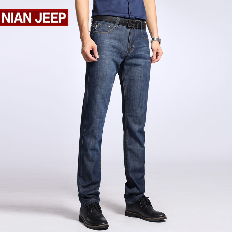 Fashion Autumn Jeans Men Slim Fit Casual Straight Biker Jeans Mens Streetwear Denim Trousers Jogger Male Blue Cargo Pants 40 42 2017 fashion patch jeans men slim straight denim jeans ripped trousers new famous brand biker jeans logo mens zipper jeans 604