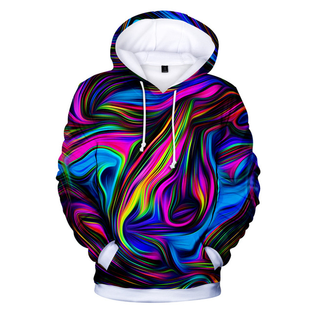 d6e0c34c81e0b 3D Printed Tie Dye Color Hoodie Women Casual Sweatshirt Top Shirt Men Galaxy  Pattern Oversized Pullover Clothes Plus Size