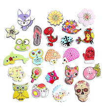 50pcs Mixed Sewing Wooden Button For Clothes Knitting Needles Crafts Scrapbooking DIY Fabric Buttons Decorative Accessories(China)