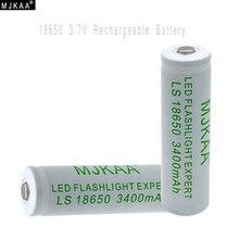 Li-ion para Lanterna 4 PCS 18650 Bateria Recarregável 3400 MAH 3.7 V LED DA Mjkaa