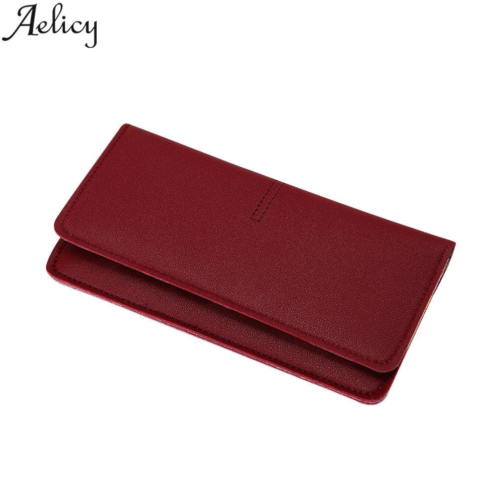 Aelicy Ladies Leather Wallets Coins Photo Women Wallet Female Purse Money Bag Long Women Leather Card Holder Luxury Carteira comics dc marvel wallets green arrow leather purse women money bags gift wallet carteira feminina bolsos mujer de marca famosa