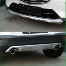 цена на For Mazda CX-3 CX3 2015 2016 2017 2018 Front Rear Body Bumper Skid protection Fender Guard Bumper Cover Trim Car-styling