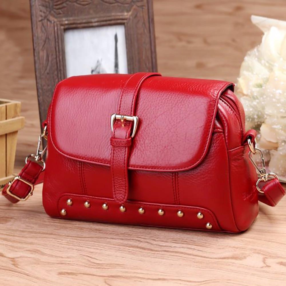 где купить  Fashion Women Real Genuine Leather Tote Handbag Ladies Casual Cross Body Hobo Bags Famous Brand Cowhide Shoulder Messenger Bag  дешево
