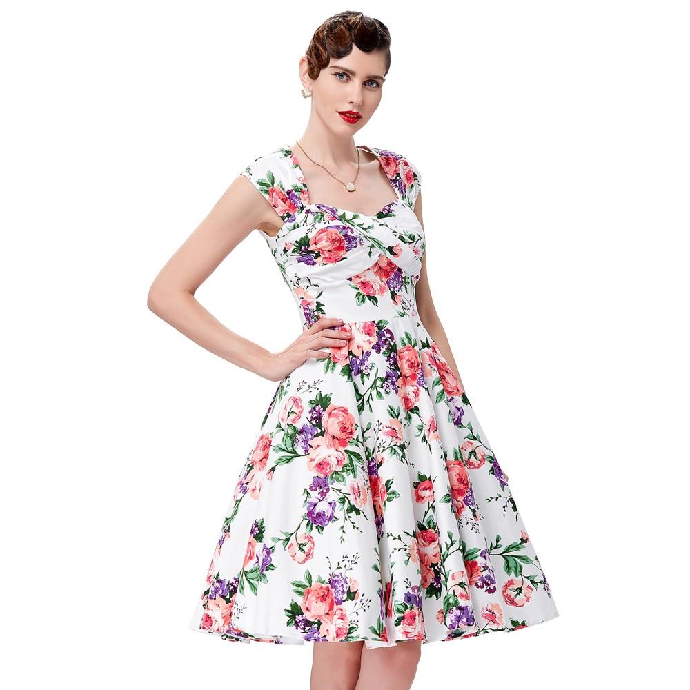 Dresses Ruched 60s Cotton