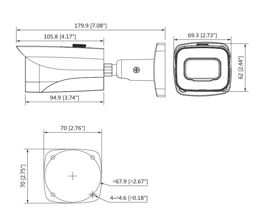 Купить с кэшбэком Dahua 8MP HAC-HFW2802E-A CCTV Camera 4K Starlight HDCVI IR Bullet Camera