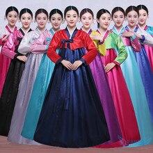 fe971944b جودة عالية متعدد الألوان التقليدية الكورية الهانبوك اللباس الإناث الكورية  الشعبية المرحلة ملابس رقص كوريا التقليدية
