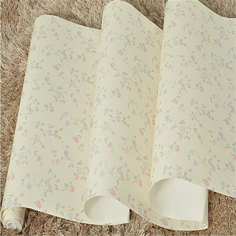 beibehang Wallpaper roll American Vintage Blue Green Flower Papel De Parede Wall Paper Roll Bedroom wall paper for living room beibehang wall paper pune girl room cartoon children s room bedroom shop for environmental non woven wallpaper ocean mermaid