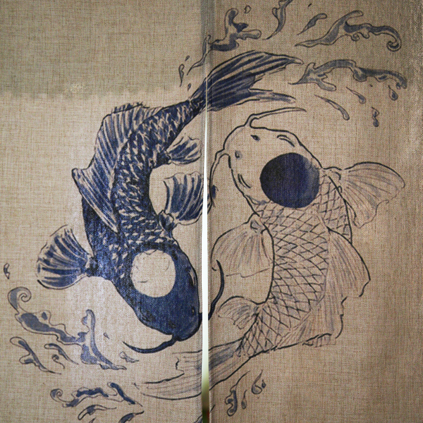 Japanese Style Koi Fish Door Curtains 4