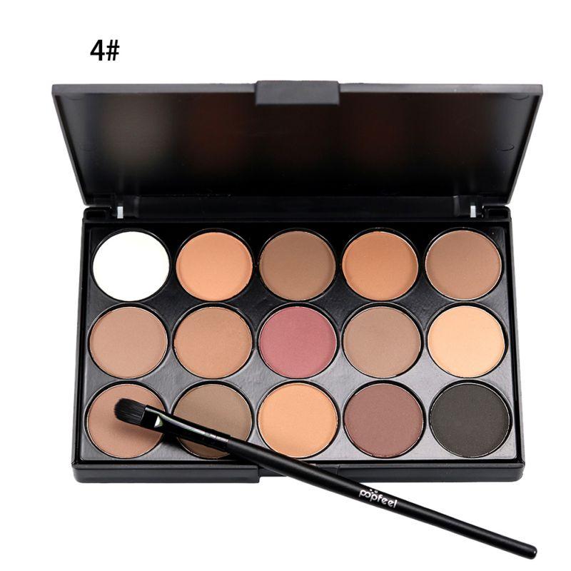 Comestic de Larga Duración Natural de 15 Colores de sombra de ojos Maquillaje Pa