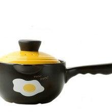 1.6л высокая термостойкость керамическая кастрюля Медленная Плита суп горшок Spodumene подходит для 1-2 человек