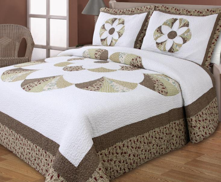 buy cotton classical embroidery rome pattern quilting bed cover air. Black Bedroom Furniture Sets. Home Design Ideas